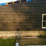 Schuur bouwen - Hout geraamte - 12 - kozijnen plaatsen wanden houten schuur